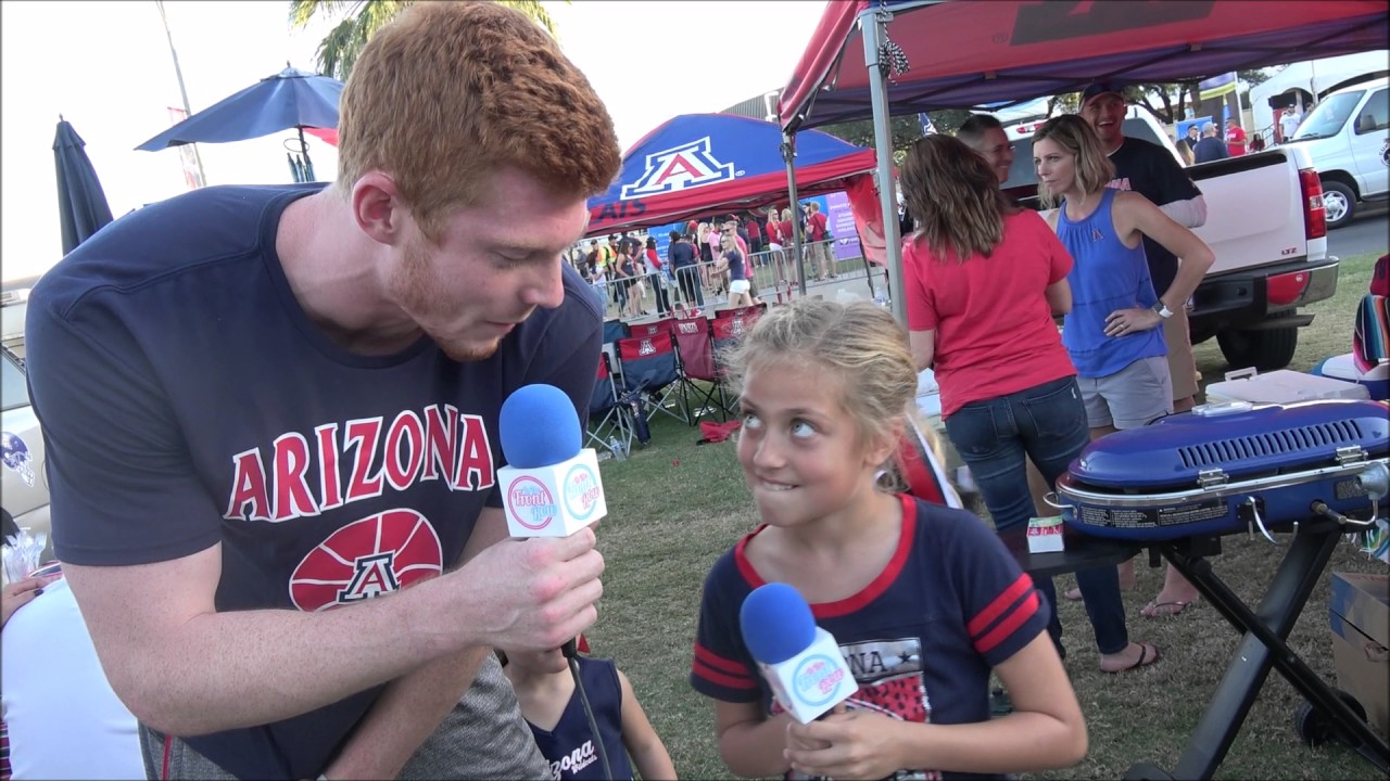 On the Mall at HOMECOMING 2016 at the University of Arizona talking to Wildcats Fans